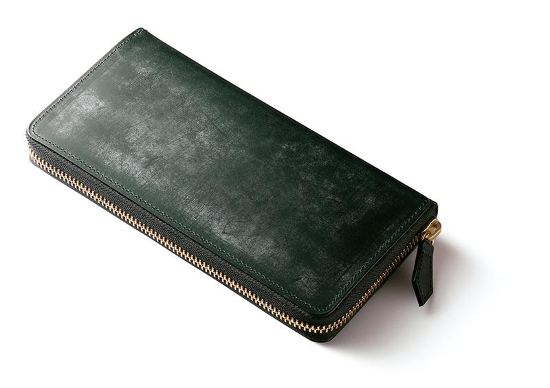 緑色の高級風水財布デス
