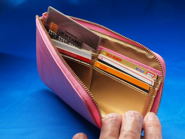 ピンク色の風水財布