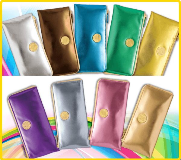 カラフルな風水財布