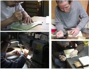 財布職人が手作り