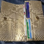 財布屋の金の蛇革財布の感想